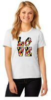Love Baltimore Maryland State Sport Women's Short Sleeve Tee White T SHIRT Gift