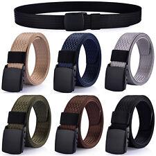 Men's Plastic Buckle Casual Dress Nylon Webbed Belt, No Metal Parts