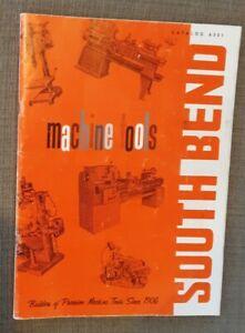 Vintage South Bend Machine Tools Catalog 6301  1963 Excellent Condition Original