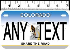 PERSONALIZED ALUMINUM MOTORCYCLE STATE LICENSE PLATE-COLORADO BIKE