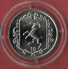 Isle of Man 1984 AE 10p Loaghtan Ram [4 Horns] Uncirculated Capsule High Grade