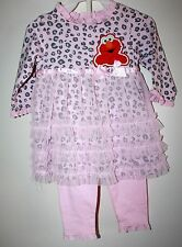 Sesame Street 2 Piece Set Pink 3-6 Month