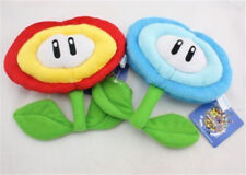 2pcs Super Mario Bros Fire Flower and Ice Flower Plush Toy Soft Figure Doll