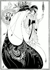 The Peacock Skirt by Aubrey Beardsley Vintage Art Nouveau Poster