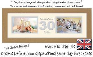 """30th Anniversary Photo Frame Pearl Wedding Two Box x2 6""""x4"""" Photos 1233A"""