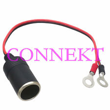 Car Cigarette Lighter Female Socket to 8mm Ring Terminals Battery charger cable