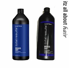Matrix Total Results Brass Off Shampoo &  Conditioner 1 litre 1000ml Duo