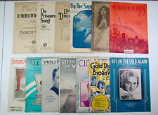 Lot of 13 Vintage Early Mid Century Piano Vocal Violin Orchestra Sheet Music