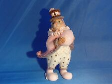 Katherine'S Collection Rabbit with Egg Ornament Pink Coat with White Pants Euc