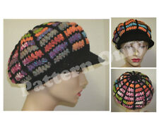 Crochet Pattern - Stained Glass Ribbed Brim Hat - Adult Slouch Style Hat