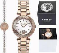Versus Versace Damen Uhr und Armband im SET VSP712218 Bricklane IP Rosegold neu