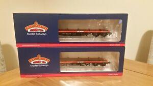 Pair of Bachmann 38-151B BDA Bogie Bolster Wagon Railfreight