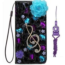 for BlackBerry Key 2/AT&T Maestro Plus/Fusion Z Bling Wallet Leather Phone Case