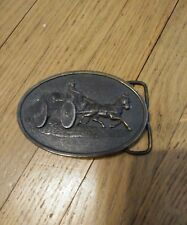 Vintage 1976 Bergamot Brass Works Fire Engine Belt Buckle