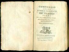 DE LA HARPE M. Compendio della storia generale de' viaggi