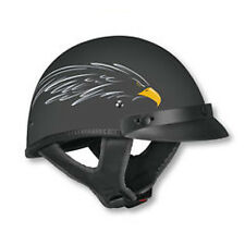 Vega XTS Motorcycle Half Helmet Flat Black Eagle Adult