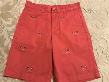 Boys Vineyard Vines Pink Chino Shorts with Lacrosse Sticks Size 14
