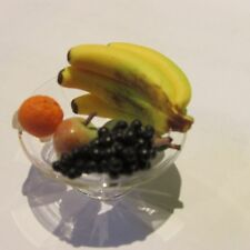 Fruit on Glass Stand ~ Doll House Miniature ~ 1/12th scale