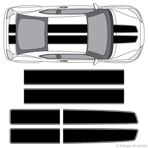 Scion tC or FR-S EZ Rally Racing Stripes 3M Vinyl Stripe Decals Graphics