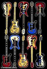 8x10 Rug Modern Guitars Music Rock n Roll Time Recording Studio Electric Guitar