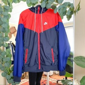 NIKE Windrunner Red, White, Blue Jacket Men's size small windbreaker usa casual