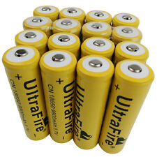16X 18650 9800mAh 3.7V Li-ion Rechargeable Battery for Flashlight Torch Light