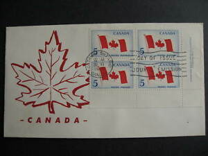 Canada flag ARC cachet FDC first day cover Sc 439 plate block