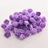 50 PCS Mini PE Foam Rose Artificial Flowers For Wedding Car Decoration DIY Pompo