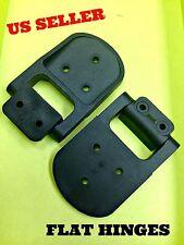 LOT OF 8 Flat Hinge Plastic Black Cabinet Panels Locker A/C Unit Hvac 180° # 300