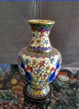 7.88 inch/ Collection of Chinese copper carved cloisonne vase