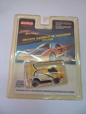 MARCHON 22170 YELLOW & WHITE   SLOT CAR HO MR1 RACING - FALLER - TYCO.