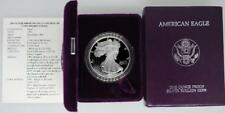 1993-P Proof American Silver Eagle Complete Boxes & COA, Coin have Toning
