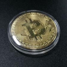 50 Bitcoin Physical Bitcoins Gold Color BTC Cryptocurrency Collectible Coin