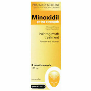 Minoxidil Extra Strength 5% -180ml 3 MONTH SUPPLY REGAINE HAIR LOSS TREATMENT