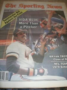 May 1979 Sporting News - Vida Blue San Francisco Giants Pitcher