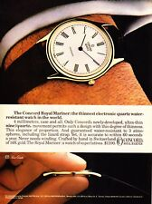 1980 Concord Royal Mariner Ultra-Thin Quartz Watch photo vintage promo print ad