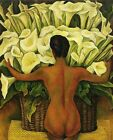 Print - Nude with Calla Lilies by Diego Rivera