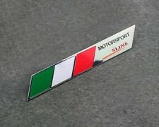 2pcs Italy IT Flag Trunk Rear MOTORSPORT Sport Sline S line Emblem Badge Sticker