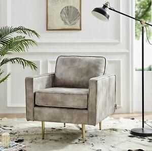 Bravich Modern Bonded Leather Smoking Armchair - Chair / Sofa / Settee Furniture