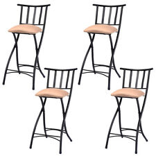 "Set of 4 Folding Bar Stools 23"" Counter Height Bistro Dining Kitchen Pub Chair"
