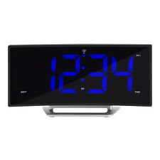 617-249 La Crosse Technology Atomic Curve LED Dual Alarm Clock USB - Refurbished
