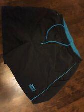Slazenger Boys Black And Blue Swimming Shorts Age 11-12 Years