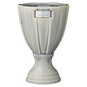Rosalin Calm Green Pedestal Vase, Ceramic Vase Planter by Lene Bjerre 21 x 13 cm