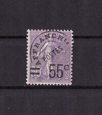 timbre France préoblitéré   semeuse  surcharge 55c  sur 60c violet    n° 47  **