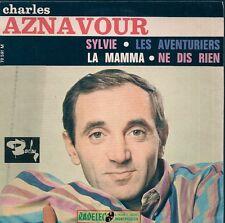 EP 4 TITRES--CHARLES AZNAVOUR--SYLVIE / LES AVENTURIERS