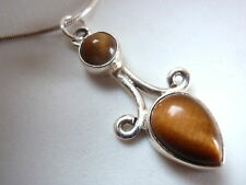 Tiger Eye 925 Sterling Silver Necklace India best offer