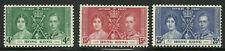 Album Treasures Hong Kong Scott # 151-153  George VI Coronation Mint VLH