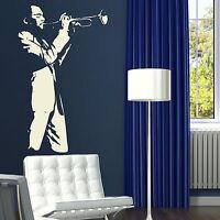 Trumpet Player - Music Wall Stricker / Interior Art Decor Music Transfer RA216