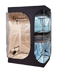 36''x24''x53'' 600D High Reflective 2-in-1 Propagation & Flower Grow Tent Room