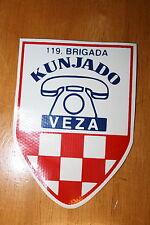 CROATIA CROATIAN ARMY CLOTH UNIFORM PATCH BADGE PRINTED ON PVC #2